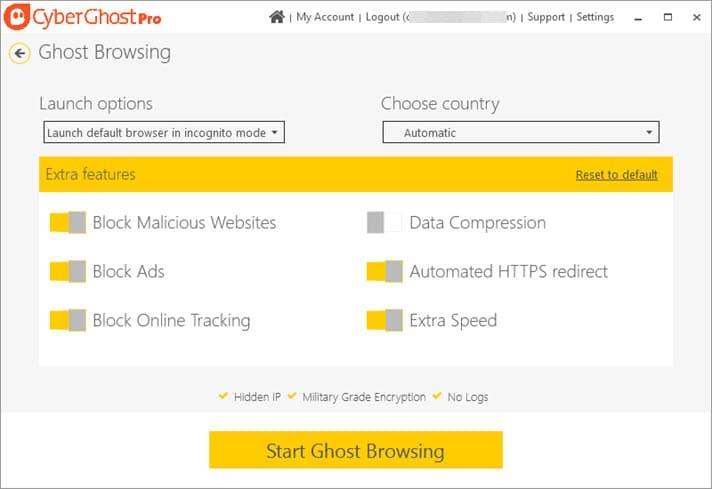 Обзор CyberGhost VPN